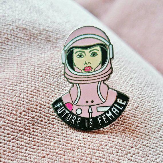 Feminist pin Hard Enamel Pin Future is door shopTheSassyGirl