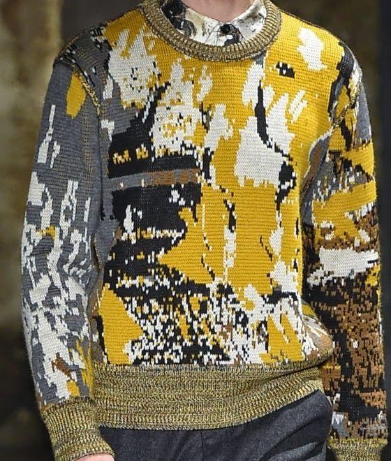 pollock style fashion jumper knit inspiration for mens wear patternprints journal: Feb 6, 2015