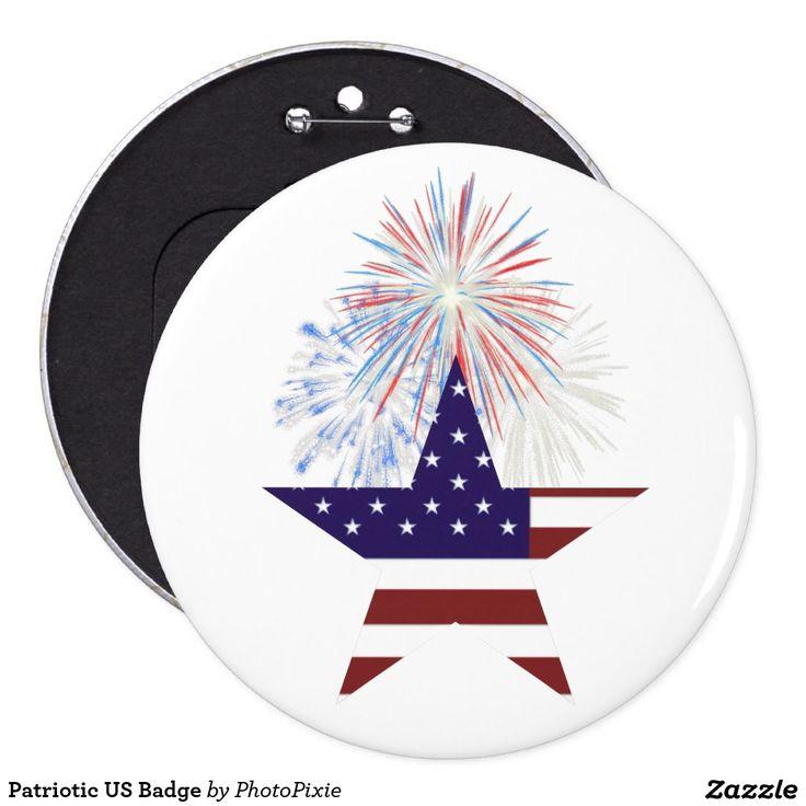 Patriotic US Badge