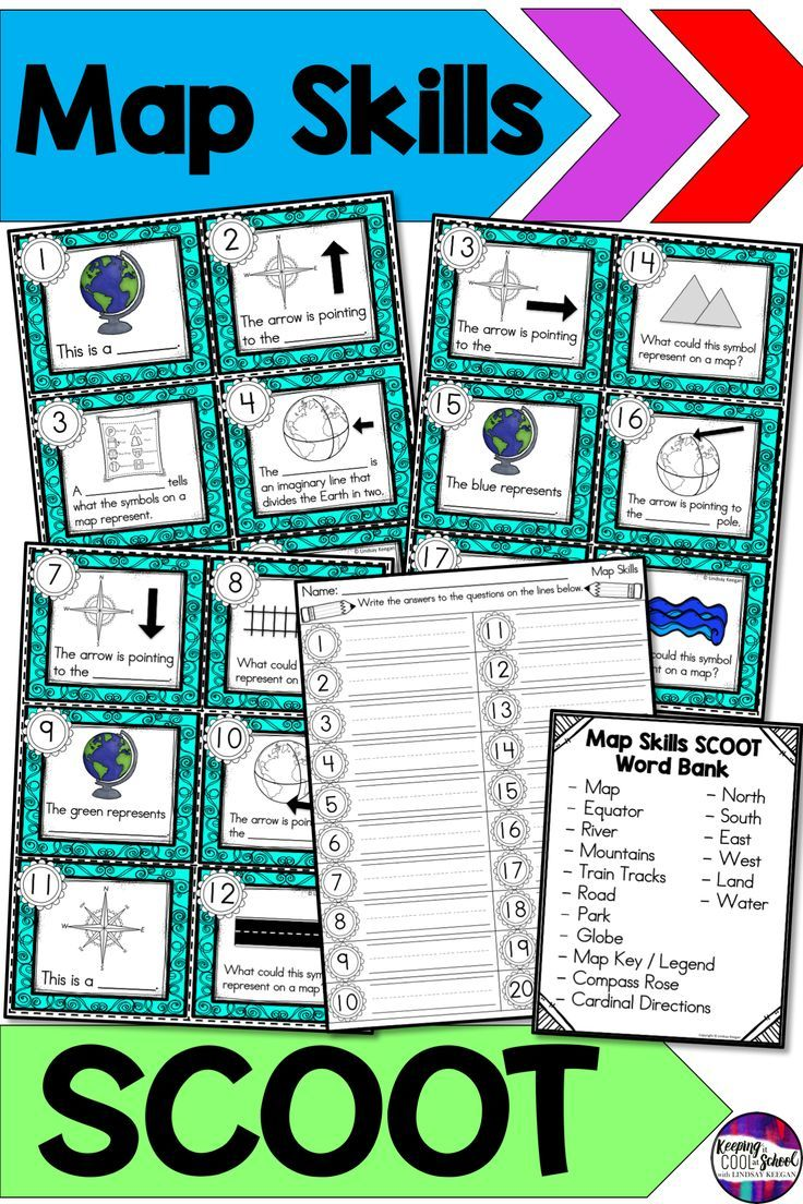 Map Skills Scoot Write The Room Activity Map Skills Teaching Map Skills Map Skills Worksheets [ 1104 x 736 Pixel ]