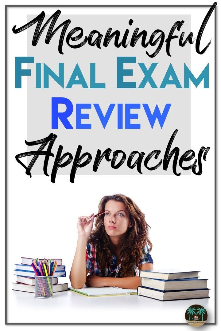 Meaningful Final Exam Review Sessions. Organize the end of the year review to help students - and save your sanity.