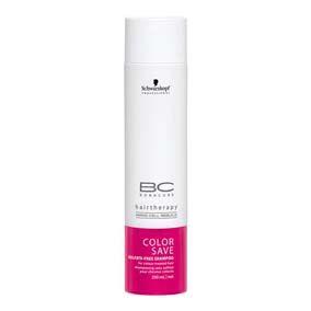 Bonacure Shampoo Color Save X250 Ml Una formula delicada que lava y cuida el cabello coloreado.