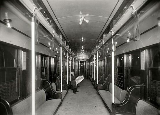 subway car interior old new york city pinterest. Black Bedroom Furniture Sets. Home Design Ideas