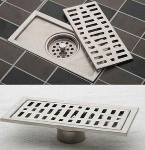 Stainless Steel Bathroom Floor Drain Shower Square Floor Waste Grate