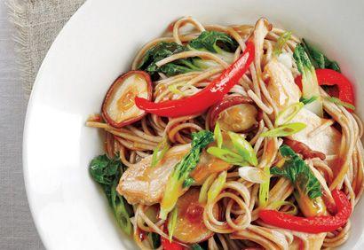 Sauté de poulet et de nouilles à l'asiatique #recette