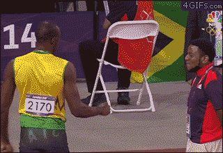 Ce fan d'Usain Bolt.