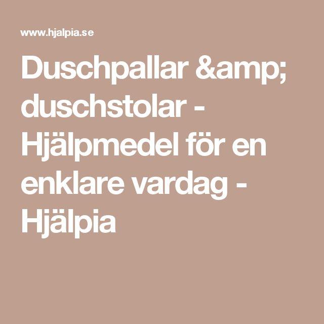 Duschpallar & duschstolar - Hjälpmedel för en enklare vardag - Hjälpia