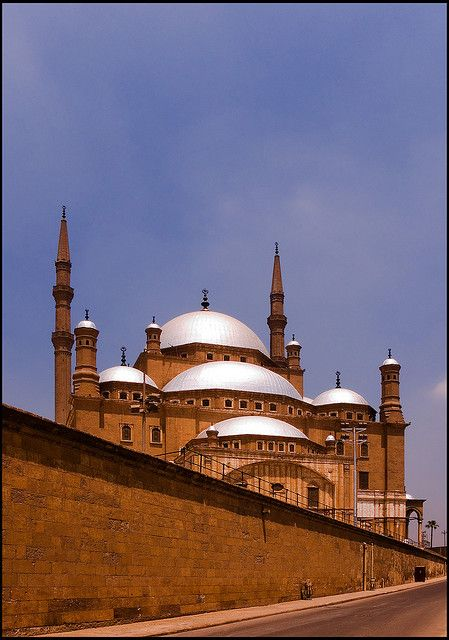 View of the alabaster or Mohamed Ali mosque from a street in the Cairo Citadel.