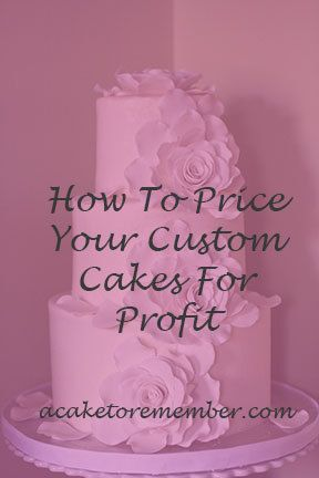 If you have a cake business and want to know how to price your cakes, this guide will walk you through the process of what to charge for a cake. Based on 20 years of experience and a business that was profitable from the first year! It's everything you need to know in one spot. https://www.etsy.com/listing/249560767/ For more on how to price cakes, cake tutorials, cake business advice, and cake decorating tips and tricks, go to www.acaketorememberva.blogspot.com