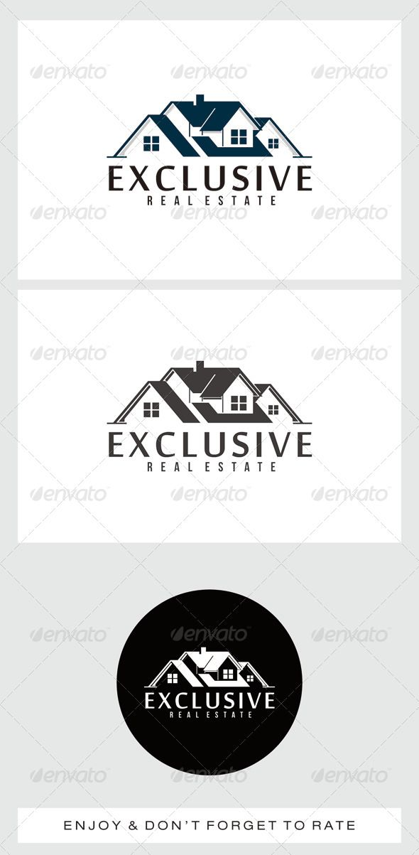 Exclusive Real Estate  Logo Design Template Vector #logotype Download it here:  http://graphicriver.net/item/exclusive-real-estate-logo/7462058?s_rank=137?ref=nexion