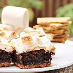 S'mores brownies - a fun spin on a summertime favorite.