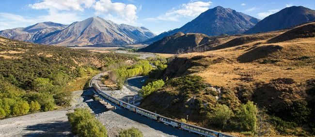 Book train travel on the Tranz Alpine Express between Christchurch and Greymouth and connect to our West Coast bus services. What's more, you can book the whole trip on our website!