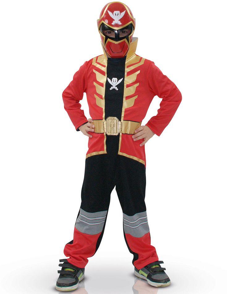 Disfraz clásico Rojo Powers Rangers™ Super Mega Force: Este disfraz de Power Rangers para niño tiene licencia oficialPowers Rangers™. Incluye traje rojo y máscara (zapatos no incluidos).El traje es rojo y dorado con la parte de...