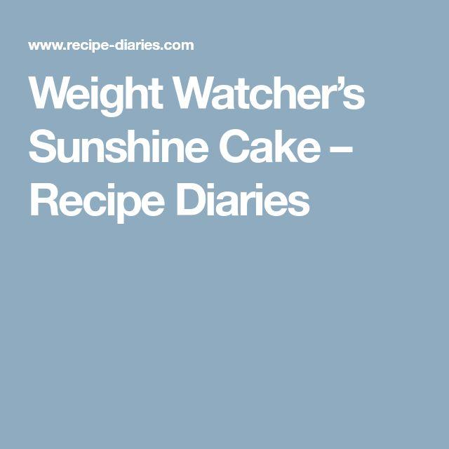 Weight Watcher's Sunshine Cake – Recipe Diaries