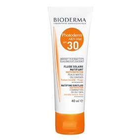 Bioderma Photoderm Akn Mat Protección solar spf 30 / rostro, para pieles acnéicas o grasas. Efecto matificante, textura ultraligera.