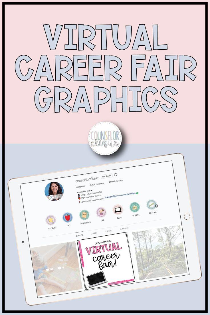 Virtual Career Fair Graphics in 2020 School counselor