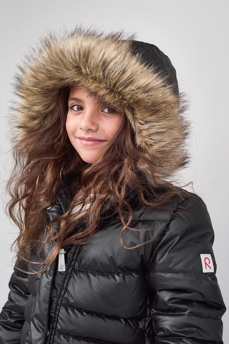 """Reima's """"Satu"""" jacket is good looking and functional. It keeps your kid warm during the cold winter days."""