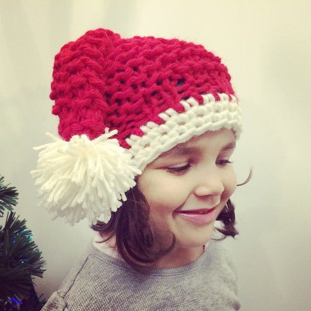 vane.handicraft's photo on Instagram santa's knitted hat