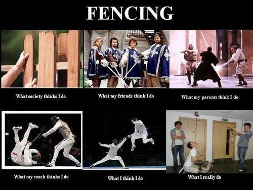 Another interpretation of Fencing Repinned by Hub City Fencing Academy of Edison, NJ.