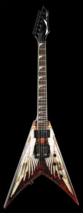 Dean Dave Mustane Angel Of Deth. Sold At Backstage Auctions