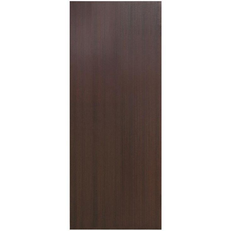 VINT NYC 30 in. x 80 in. Kona Chocolate Smooth Flush Hollow Core Wood Composite Interior Door Slab, Kona Wood Grain