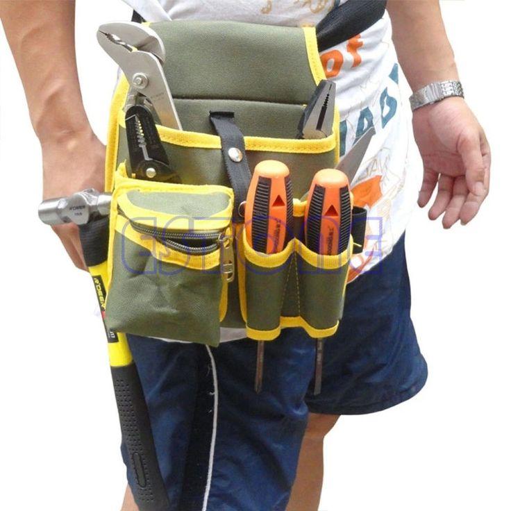 Portable Mécanique Toile Outil Taille Sac Ceinture Utilitaire Kit Poche Poche Organisateur-S018 Haute Qualité