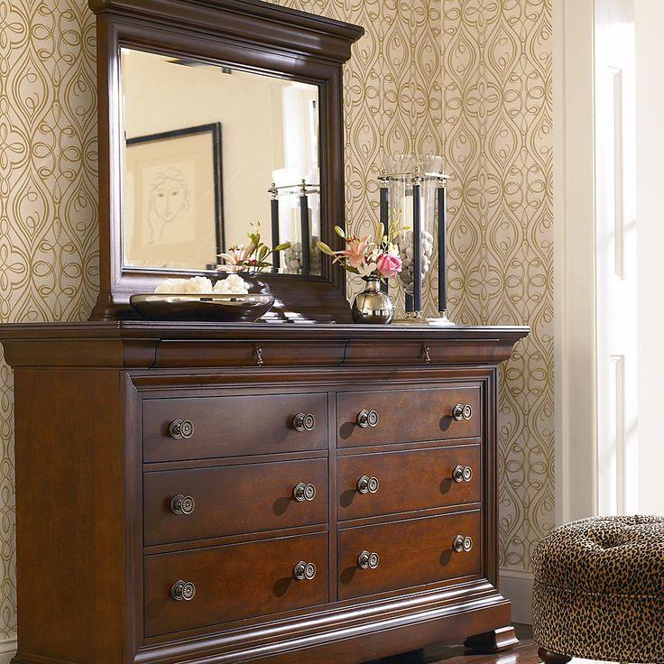 Dark Cherry Wood Dresser Chest For Bedrooms 1 500