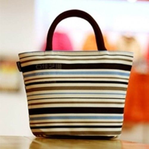 Canvas Tote Bag - Oxford Stripe - Shop online now at www.lillyjack.com.au