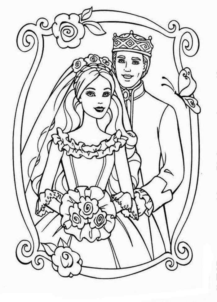 Barbie Wedding Coloring Page Barbie Coloring Pages Barbie Coloring Wedding Coloring Pages