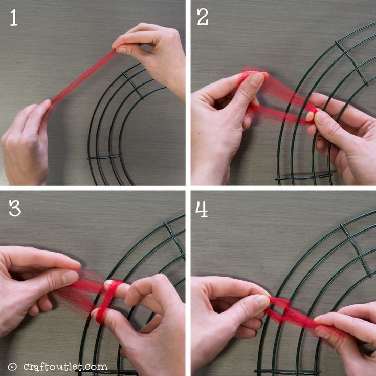 Valentines Day Tulle Wreath tutorial