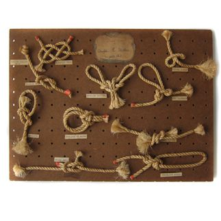camp, camping, scouts, vintage knot board, knots
