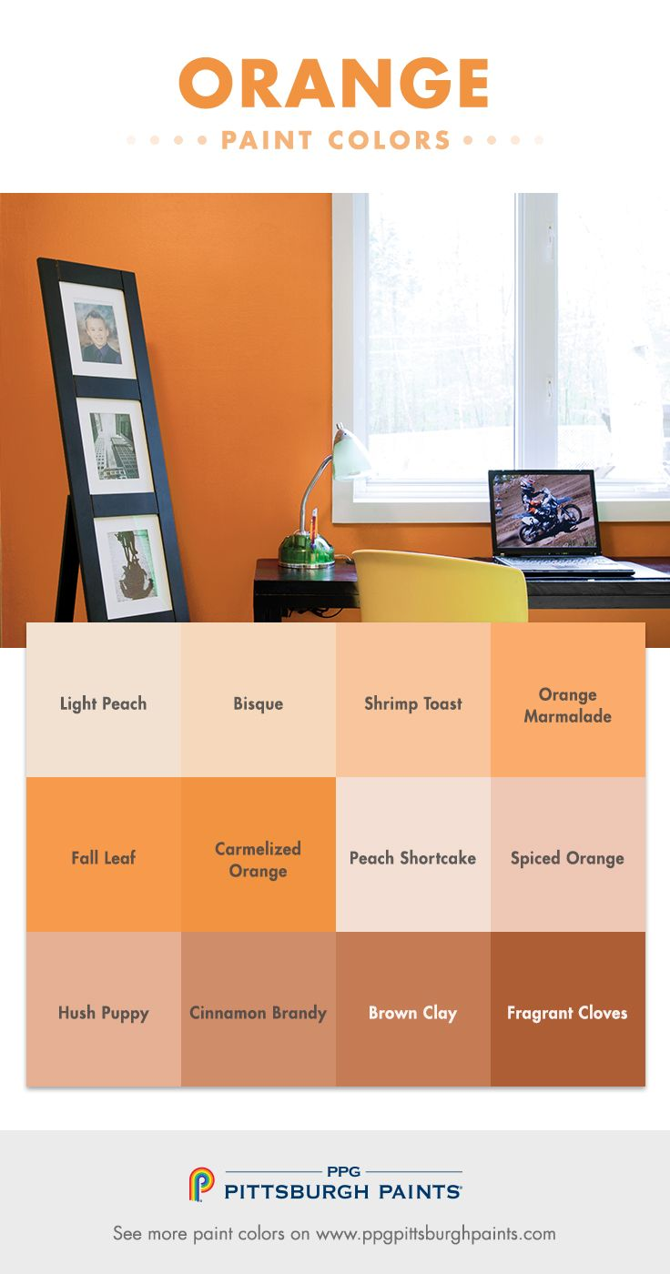 Orange Paint Colors Evoke Feelings Of Warmth The Sun And Clay Soil It Is A Very Organic Color Family That Implies Good Cheer Joy W
