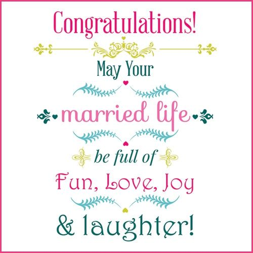 about Congratulations Wedding Messages on Pinterest Birthday wishes ...