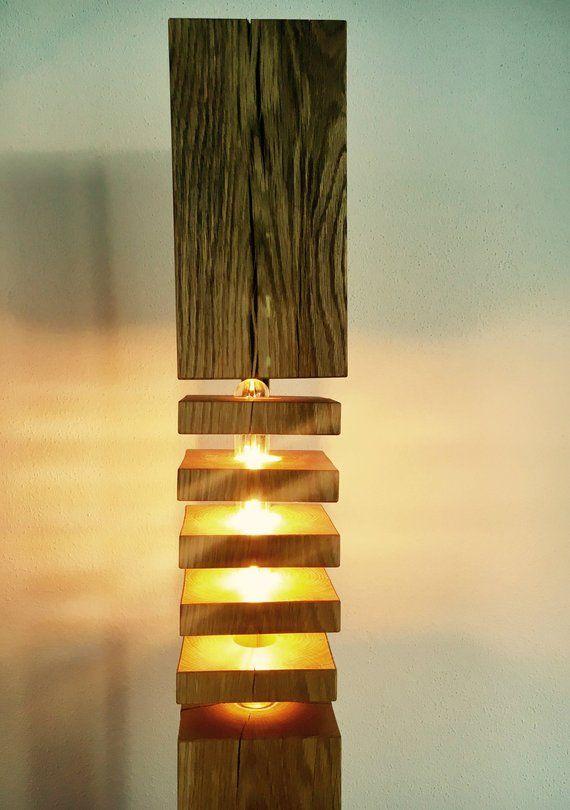 om te kopen een exclusief vloer lamp gemaakt van massief eiken met warm witte led verlichting model no2 f lb150 design d