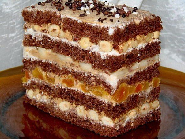 ORT of ready-made cakes  Ingredients:  ● The finished sponge cakes — 1 package (3 cakes)  ● Butter — 200 grams ● Condensed milk — 1 Bank ● Sugar — 1 glass ● Dried apricots — 150 GM ● Grape — 150 grams ● Pineapple — 3 rings  Preparation:  Cut into small pieces dried apricots.Cut pin... - Check more at http://recipesworthsharing.com/2016/04/04/ort-of-ready-made-cakes/