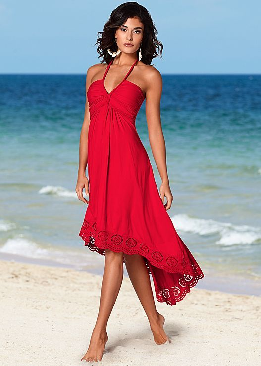 Be flirty on the beach this Valentine's Day in the perfect dress. Venus high low halter dress. #styleaffair