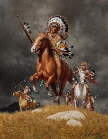 War Chief of the Sioux - Frank McCarthy - Artist Art for Sale - Frank McCarthy