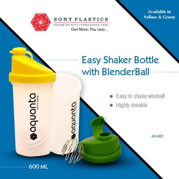 #Aquanta Easy #Shaker Bottle with Blender Ball Visit http://www.sonyplastics.com/ for bulk inquiries