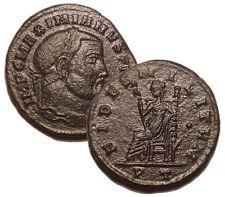 MAXIMIAN 305 AD Æ Follis Roman Bronze Coin Ticinum Mint