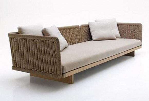 Sabi Modern Contemporary Outdoor Sectional Sofa Designs by Paola Lenti - Iroonie.Com
