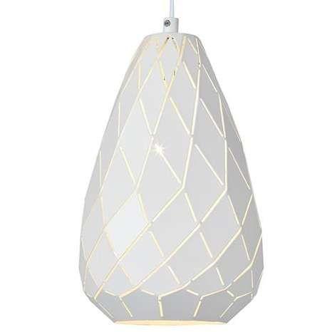 Modernistyczna LAMPA wisząca FADE 107051 Markslojd geometryczna OPRAWA metalowa zwis łezka biały