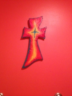 This cross was created by special needs students in the Rankin County School District and sold at their coffee shop in Brandon, Ms.