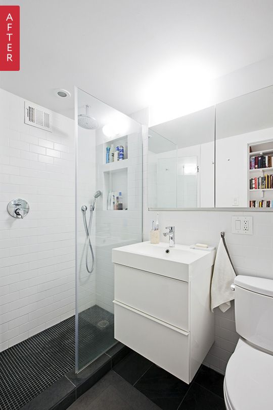 Before & After: Modern Updates for a Tiny Brooklyn Bathroom — Sweeten | Apartment Therapy