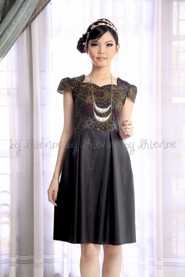 leather ikat dress | Dewi SriWidowati Dress | DhieVine | Redefine You