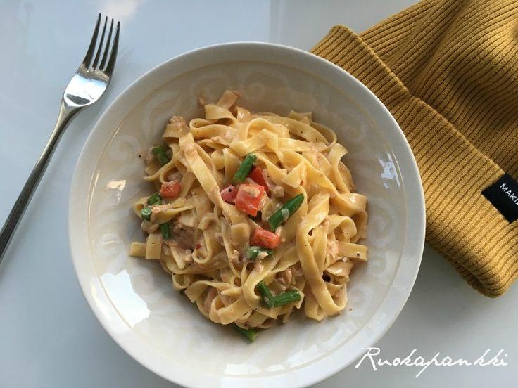 Ruokapankki: Maukas ja helppo tonnikalapasta #ruokapankki #ruokablogi #food #ruoka #foodie #pasta #tuna