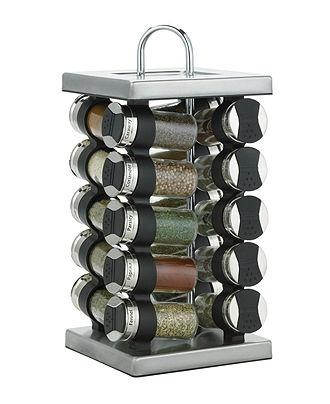 Martha Stewart Collection Square Stainless Steel Spice Rack, 20-Piece Set - Martha Stewart Collection Kitchen - Kitchen - Macy's