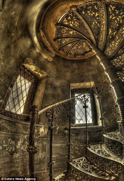 Stunning: The detailed staircase is a secret waiting to be discovered by adventurous travelers..Europe