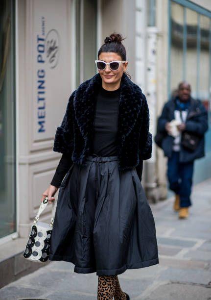 26c0628d5 Giovanna Battaglia Engelbert is seen outside Sacai during Paris Fashion  Week Womenswear Fall/Winter 2018/2019 on March 5 2018 in Paris France