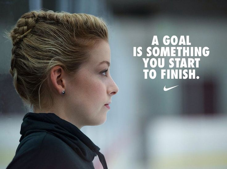 A goal is something you start to finish #graciegold