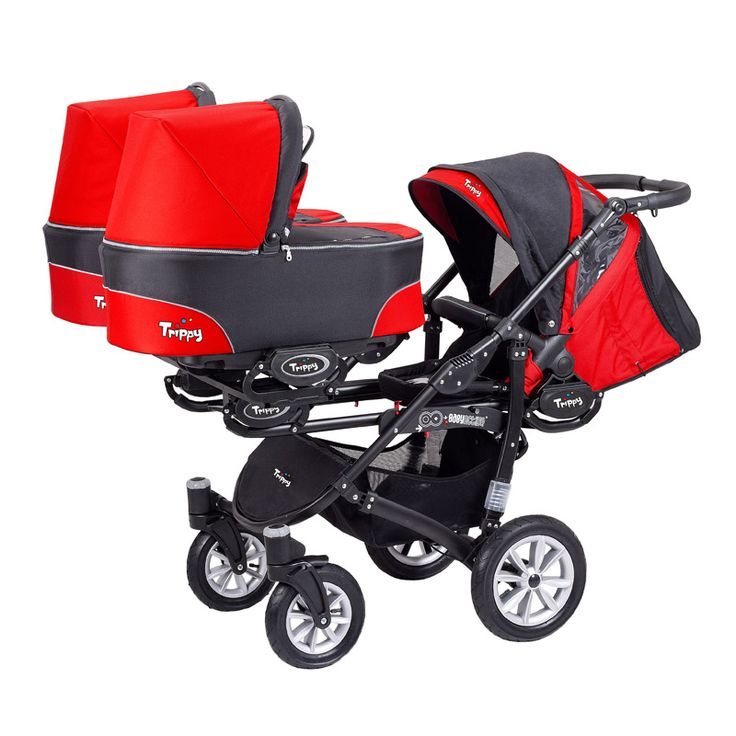 triplet pram - Google Search  I recommend some thing like this one http://www.geojono.com/